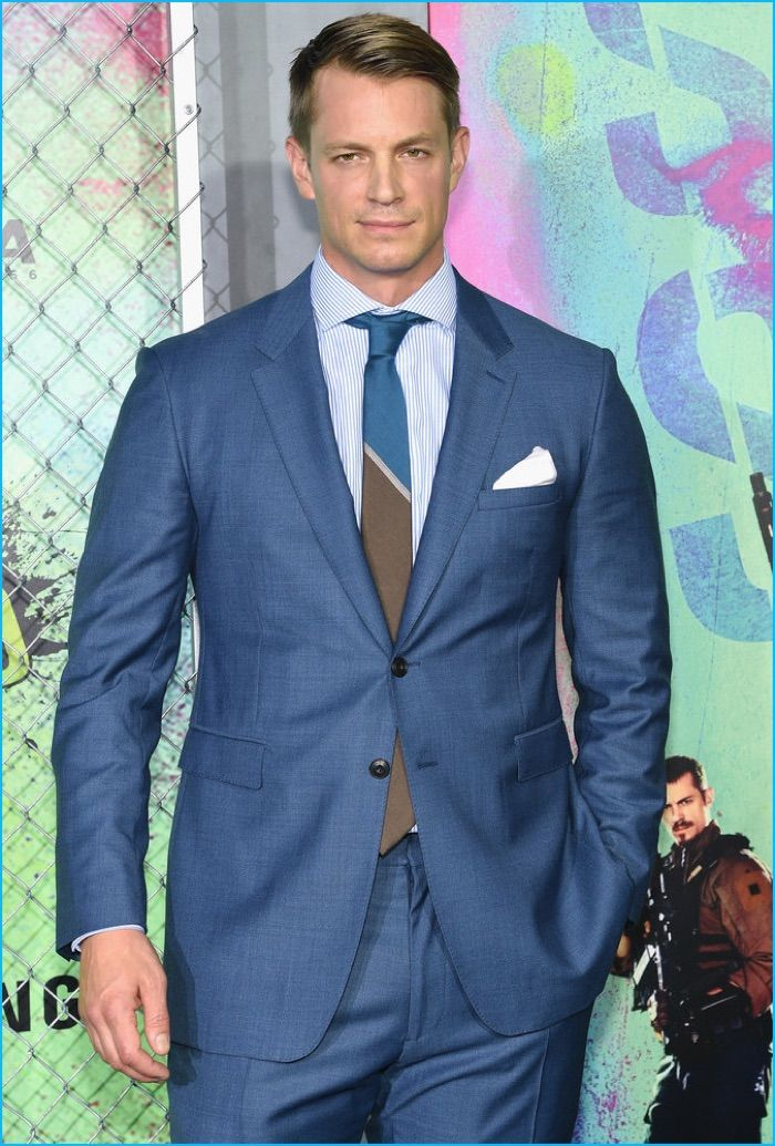 Fine Suiting Moment: Joel Kinnaman wears a Burberry Tailoring suit to the New York City premiere of Suicide Squad.