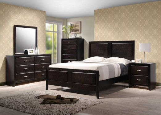 Yuan tai adele 5 piece bedroom furniture set king taken for Bedroom furniture amazon