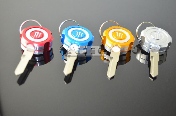 Electric motorcycle keys embryo red yellow and Blue white universal free shipping 4pcs