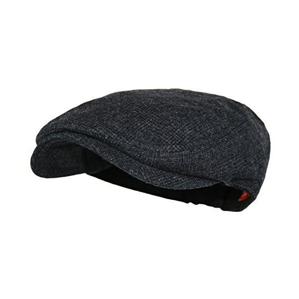 Men's Herringbone Wool Tweed Newsboy Ivy Cabbie Driving Hat ($6.33) via Polyvore featuring men's fashion, men's accessories, men's hats, mens newsboy cap, mens hats, mens newsboy hat and mens wool hats