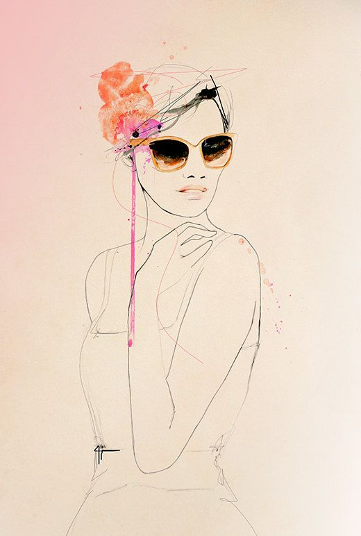 Coup d'oeil  Fashion Illustration Art Print by Leigh Viner