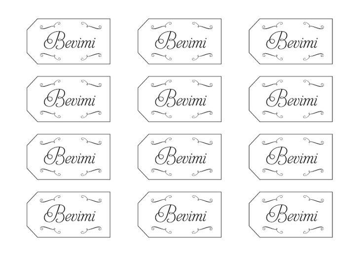 """Template pdf  etichette """"Bevimi"""" per matrimonio a tema alice in wonderland"""