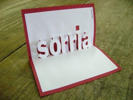 Cartão pop-up: Sorria!