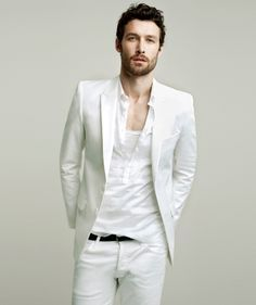White is a brilliant color that suits almost any situation. It\u0027s great for  the summer so we\u0027ve gathered a bunch of all,white outfits for men that  rocks!