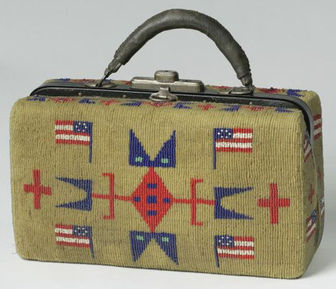 Bag | Sioux Medical Beaded American Flag Design 10 inch