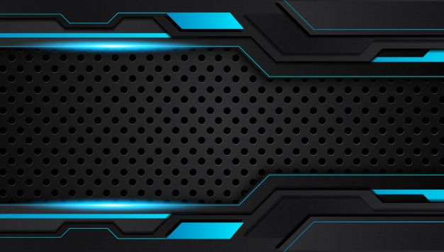 Blue And Black Abstract Metallic Design Tech Innovation Concept Background Black Design Wallpaper Black And Blue Background Background Design Cool black blue wallpaper