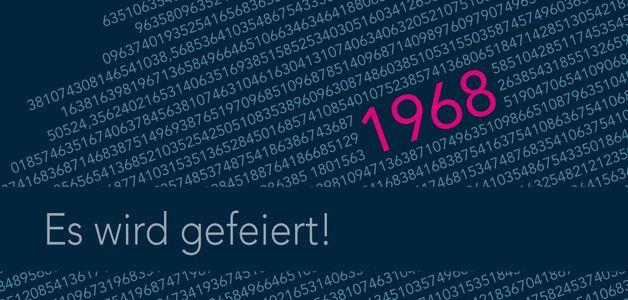 Einladungskarte 50. Geburtstag: Zahlencode 1968 ............ *So funktioniert die Bestellung: Lege einfach die gewünschte Karte in den Warenkorb. Im Warenkorb gibt es ein Mitteilungsfeld....