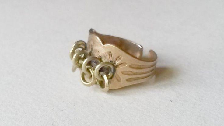 Vintage Kalevala Koru Lapland Bronze Ring, Finland (F387) by LifeUpNorth on Etsy