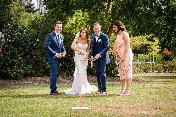 Wedding Lawn Games for canape hour