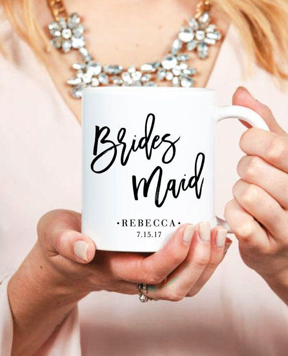 Bridesmaid Mug Inspirational Custom Coffee Mug by prettychicsf