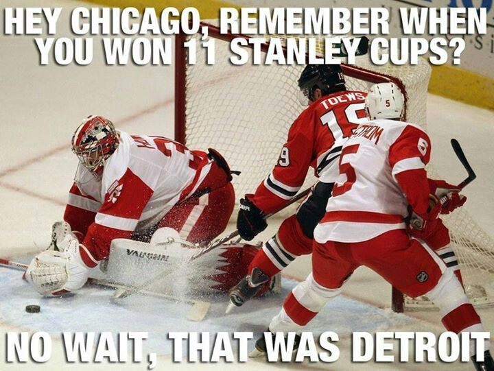 Go Wings. I should send this to my boss's boss. #hockeytown