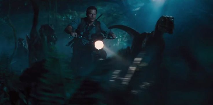 Jurassic World (2015) - Trailer Still Owen and the raptors are, if not pals, then at least working together in perfect harmony. He's managed to train the deadliest villains of the first movie and turn them into allies.
