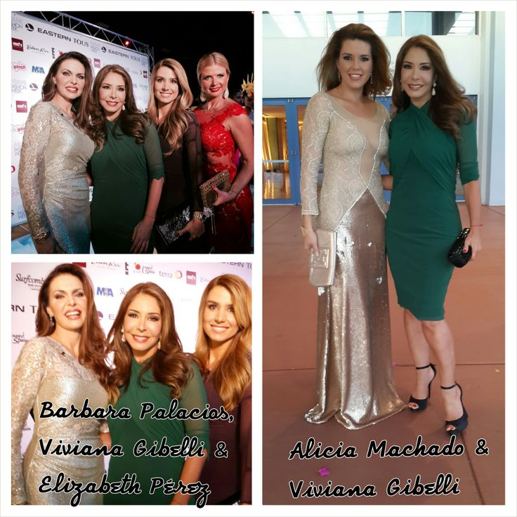 The lovely ladies in Petit Pois by Viviana G: Viviana Gibelli (Venezuelan TV host), Elizabeth Perez (CNN Espanol TV personality) and Alicia Machado (former Miss Universe). Accompanied by Barbara Palacios (former Miss Universe). #VivianaG #Fashion #PetitPoisByVivianaG