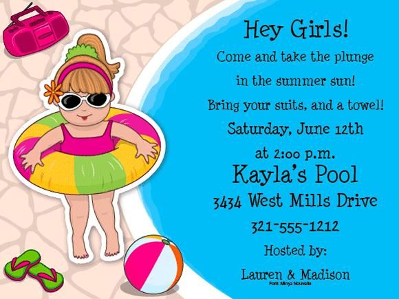 71 best Pool Party Invitations images on Pinterest Pool parties - pool party invitation