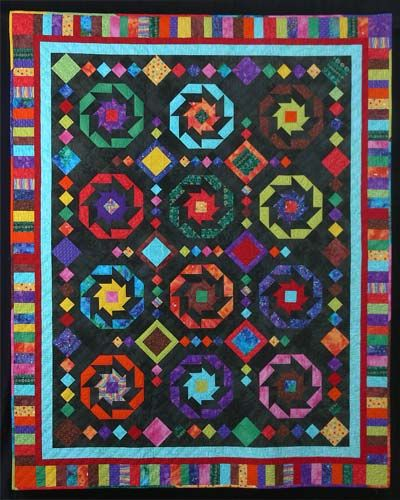 Amish sprocket quilt Pattern by @Trudie Hughes #quilt #amish  Machine Pieced and Machine Quilted