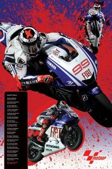 Jorge Lorenzo MotoGP SUPER ACTION Poster - #99 Fiat Yamaha -available at www.sportsposterwarehouse.com