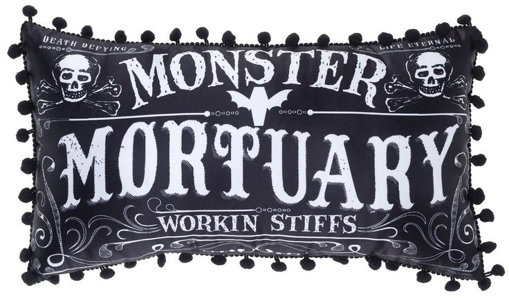 Monster Mortuary, Working Stiffs Throw Pillow
