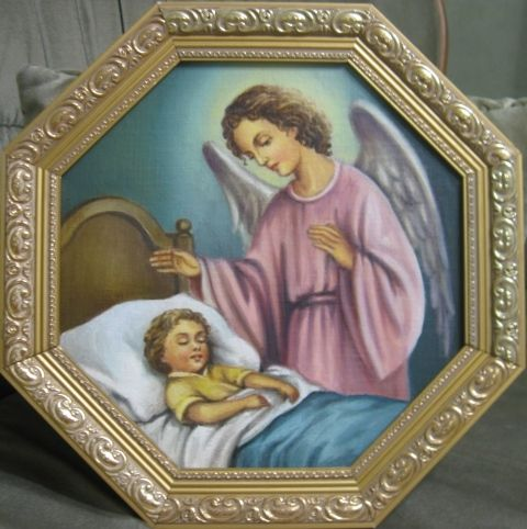 Ангел с ребенком (холст,масло)
