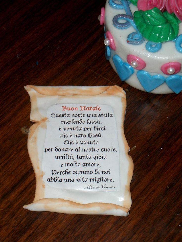 Una mia poesia su pergamena in pasta di mais