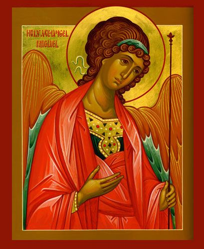wonderful icon of Archangel Michael (Nov 8) - other great art at http://www.holydormition.com/holydormition/DesktopDefault.aspx?tabindex=2=48