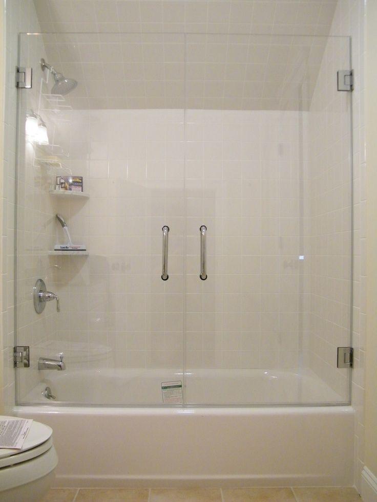 Best 25 tub glass door ideas on pinterest glass bathtub - Bathroom shower enclosures ideas ...