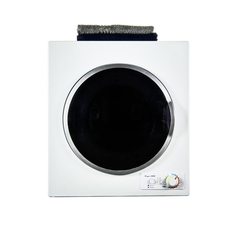 Deco by equator 35 cu ft white electric dryer with