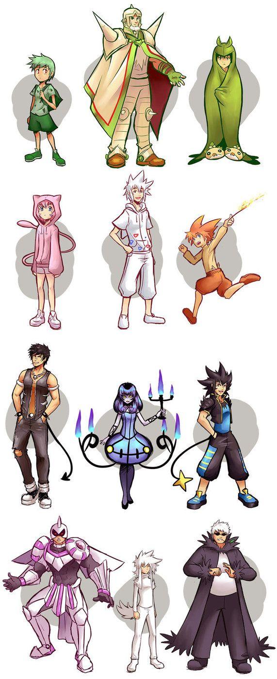 Pokemon Gijinkas batch 1 by Xelgot Pokemon gijinka