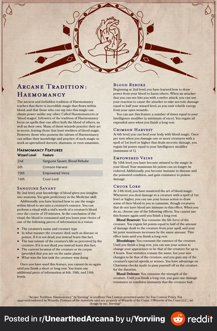 Pin by alastor v on unearthed arcana grimoire dnd 5e