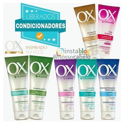 Condicionadores da OX Cosméticos  Liberados para Low Poo ✅ ( Sem Petrolatos, mas contém Silicone Insolúvel)