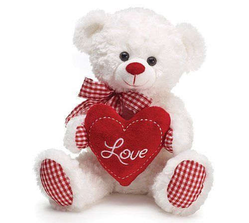 "Valentine Day Teddy Bear Gift Stuffed Plushd Soft Animal For Her Love Bear 10"" #BurtonBurton"