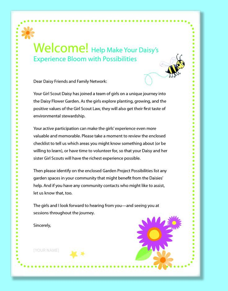 daisy girl scout newsletter template