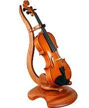 Violin Stand - Floor w/ Neck Holder - Genuine Rosewood