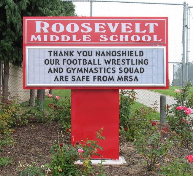 NANO-GRIP keeping schools safe from MRSA!