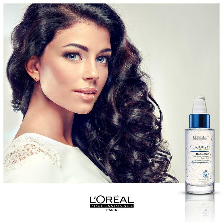 Saç tellerinizi kalınlaştırarak daha dolgun bir saç görünümüne sahip olmaya ne dersiniz? Serioxyl Thicker Hair serum, L'Oréal Professionnel kuaförlerinde.