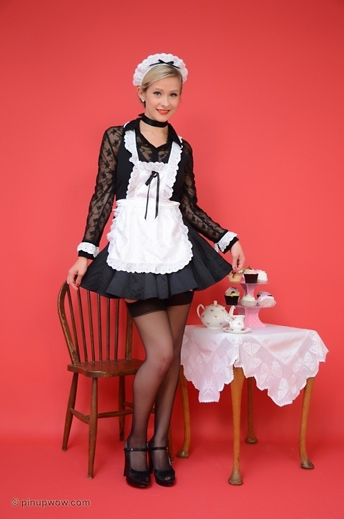Good Morning Pretty Lady In French : Best images about french maid dresses on pinterest