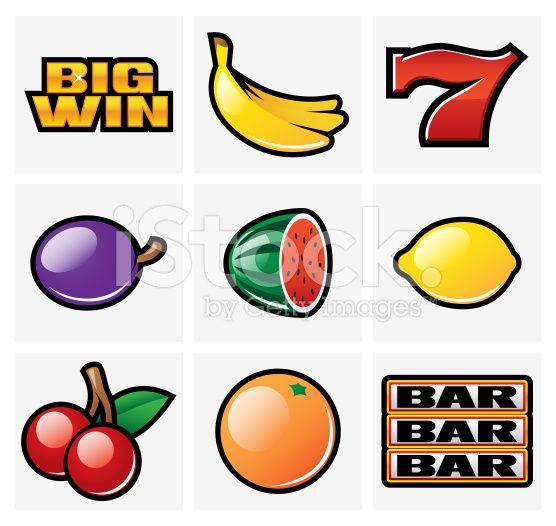 Slot symbols royalty-free stock vector art