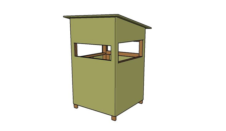 4x4 Deer Stand Plans                                                                                                                                                     More
