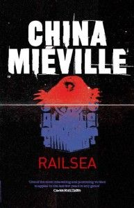 An early draft of the Railsea cover that didn't make it to the final book.