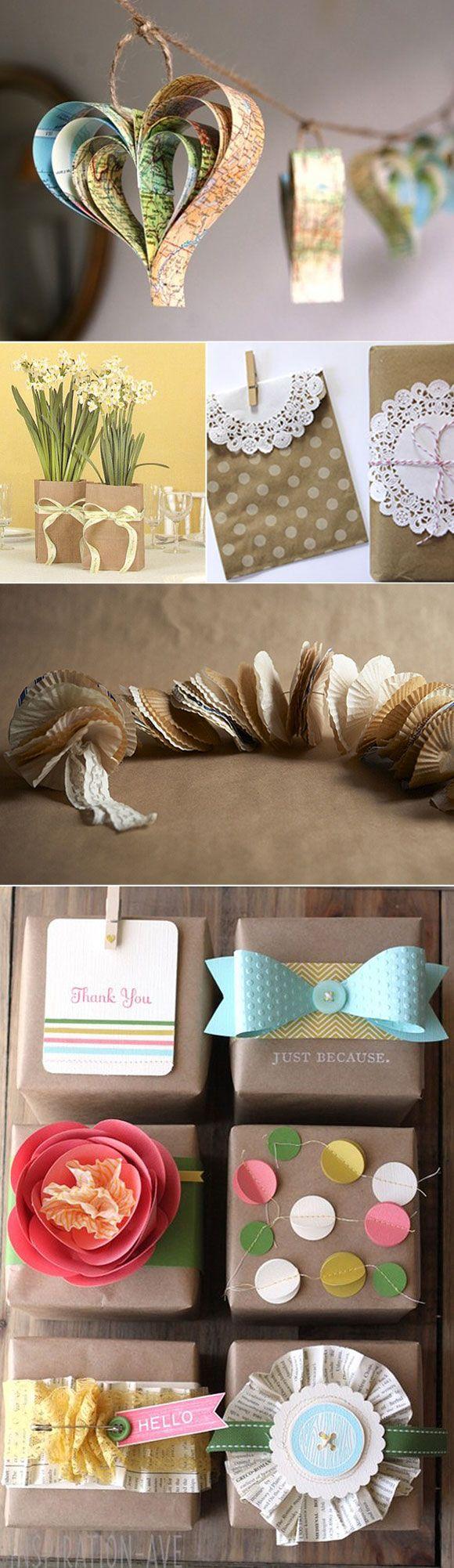 Ideas para decorar tu boda con papel Wedding decoration ideas with paper