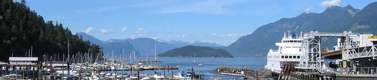 Horseshoe Bay, British Columbia, Canada (just north of Vancouver) http://www.horseshoebaybc.ca/images/horseshoebayhome1.JPG