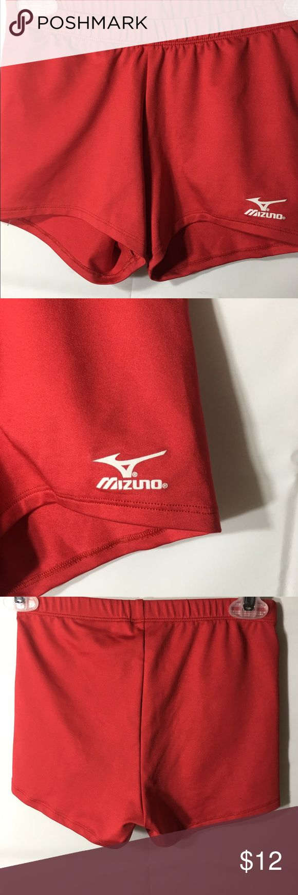 Mizuno Athletic Shorts Size Small Red Mizuno athletic shorts womens small Polyester spandex blend 2 inch inseam 8 inch rise Mizuno Shorts