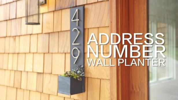 Watch: DIY House Number Wall Planter>> http://videos.hgtv.com/video/modern-house-number-wall-planter-0261901?soc=pinterest