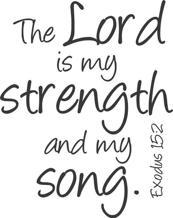 The Lord Is My Strength and My Song, Exodus 15:2, Christian Decor, Bible Verse Wall Art, Religious,