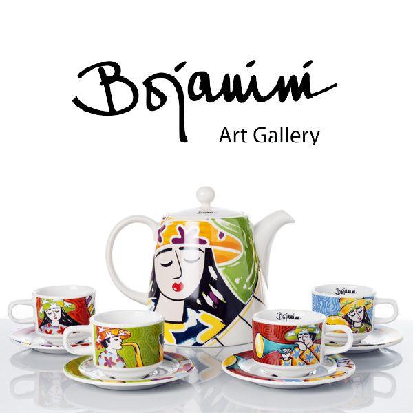 ¡Lleva la hora del té a su máximo esplendor!  Encuentra en Bojanini este set de 4 pocillos con sus platos y tetera  pintados a mano. ¡Son toda una obra de arte! http://www.elretirobogota.com/esp/?dt_portfolio=bojanini-art-gallery