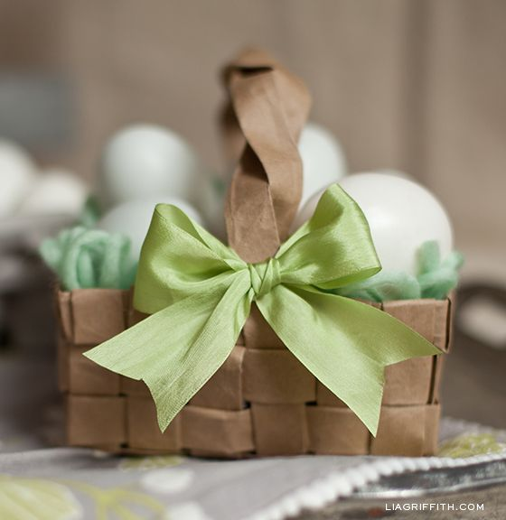 DIY Paper Bag Easter Basket