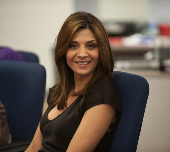 Callie Thorne from Necessary Roughness- she's amazing! Love this show so much mostly because of her