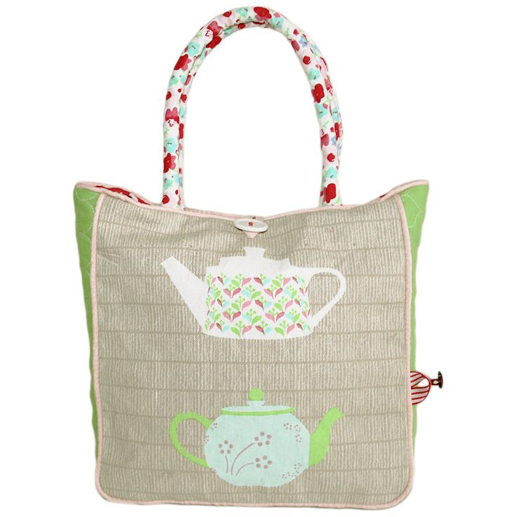 Little Lady Emily is every girl's best friend with her practical tote shape and tea party print.  Designed with love in Melbourne, Australia, Little Lady Emily has inner pockets, perfect to store all those little lady essentials and comes in its very own storage bag.  Crafted from printed canvas and green quilted poplin (Cotton/Polyester).  Size: L41*W22*D8