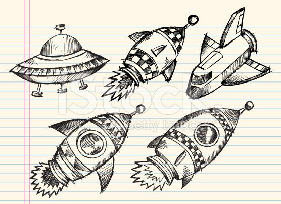 Fusée, Espace, Navette spatiale, Croquis, OVNI stock vector art 13467711 - iStock - iStock FR