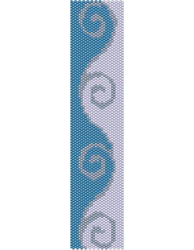 Swirls Bracelet Pattern Peyote Stitch                                                                                                                                                      Plus