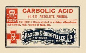 Antidote of alcohol or whiskey. Paxson & Rockefeller Co., Montana.